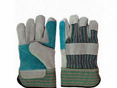 Cheap Price Double Palm Leather Work Glove From Chinese Munufacture