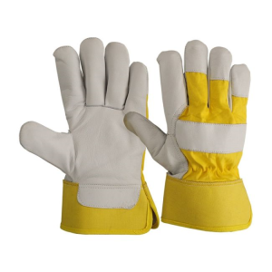 High Quality Grian Cow Leather Safety Work Glove