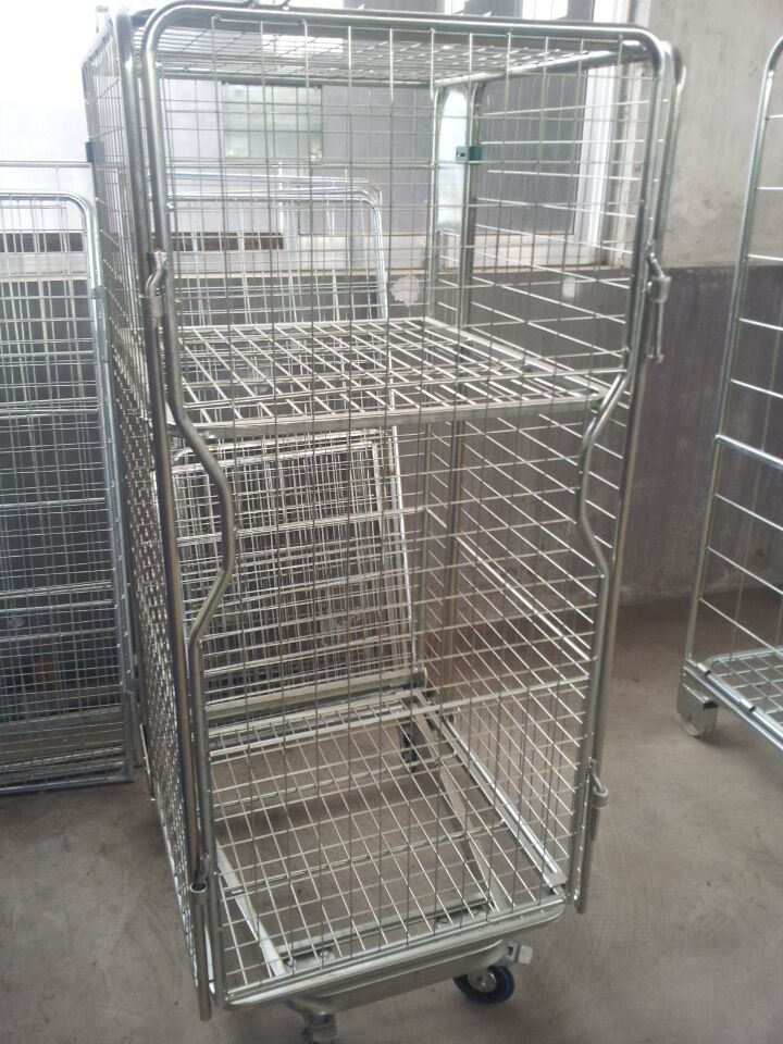 foldable supermarket storage cart