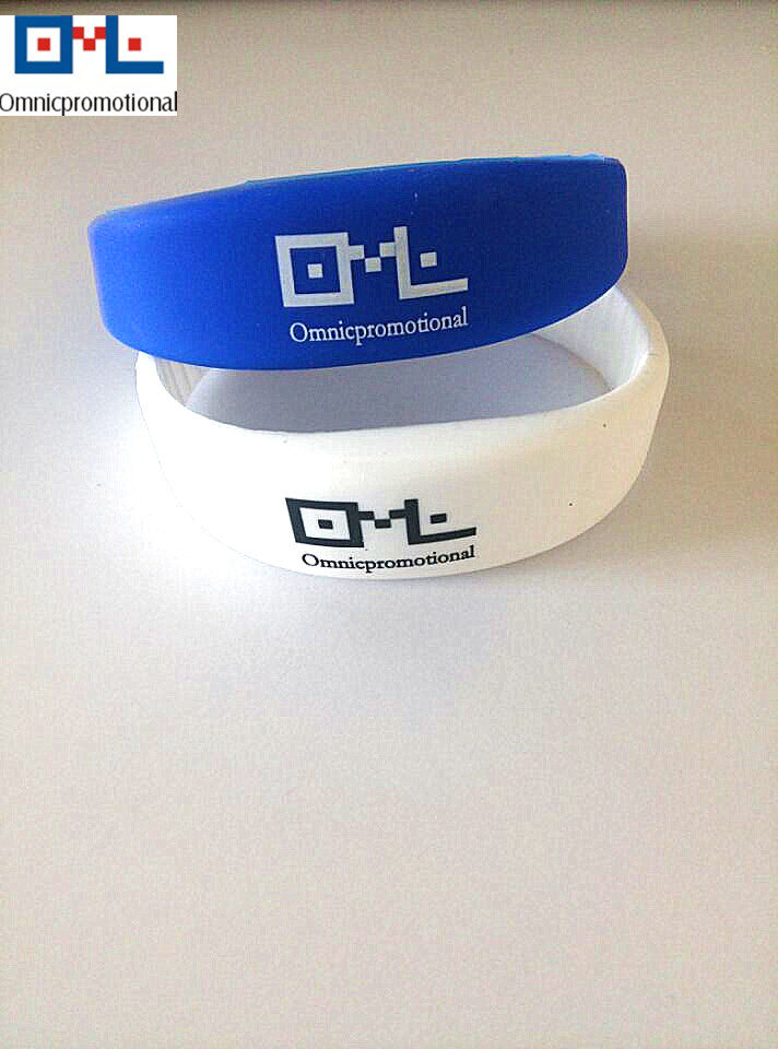 RFID silicone wristband with logo print