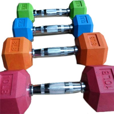 Colorful Rubber Dumbbell