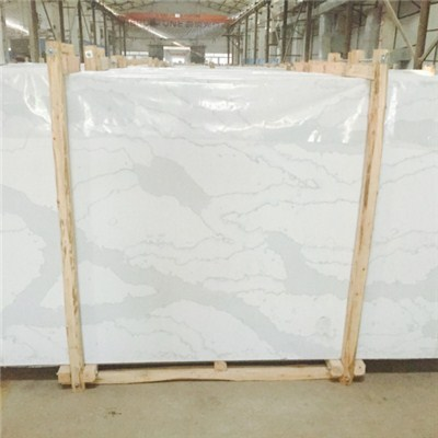 CALACATTE GOLD MARBLE LOOKING QUARTZ SLAB