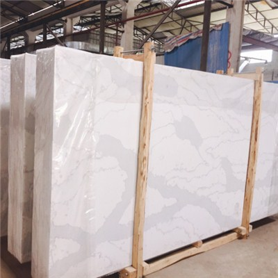 Marble Looking Quartz Stone Slab