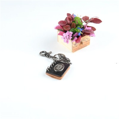 Leather Blank Key Chain With Metal Closure
