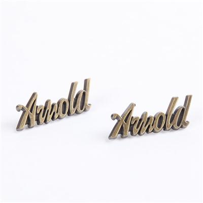 Brass Metal Letter Label For Garment
