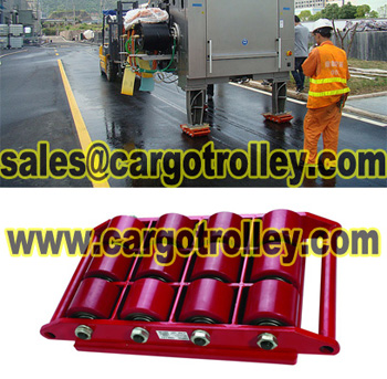 Transport trolleys for moving works