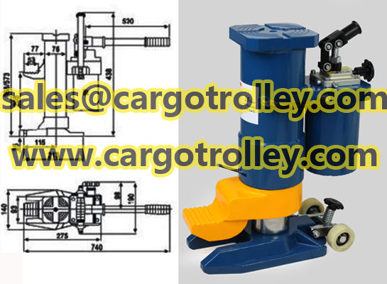 Hand operated toe jack applications
