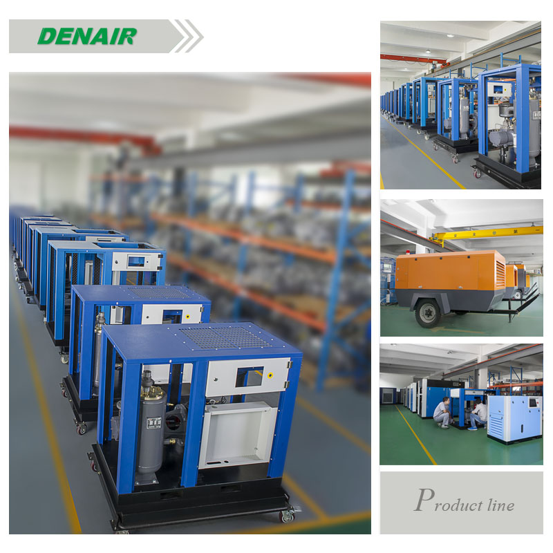 denair high efficiency diesel portable air compressor