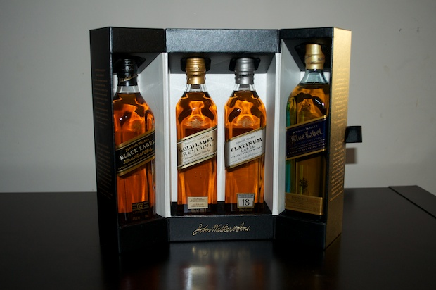 Johnnie Walker  (black,gold,platinum & Blue)