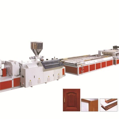 PVC Wood Plastic Door Board Production Line PVC