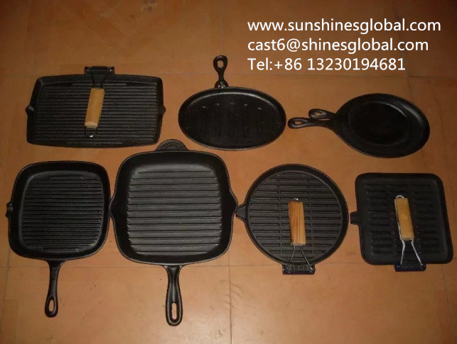 Cast Iron Grill Pans/ Griddles/Skillets/Enameled Cookware