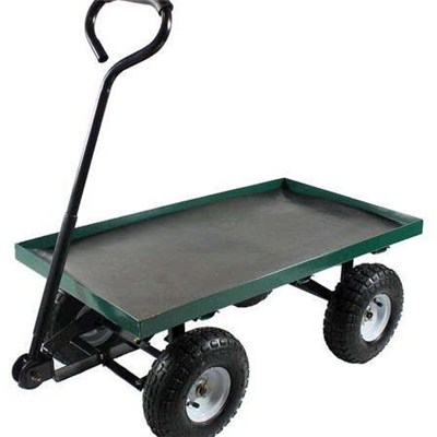 Four Wheel Mesh Garden Tool Cart