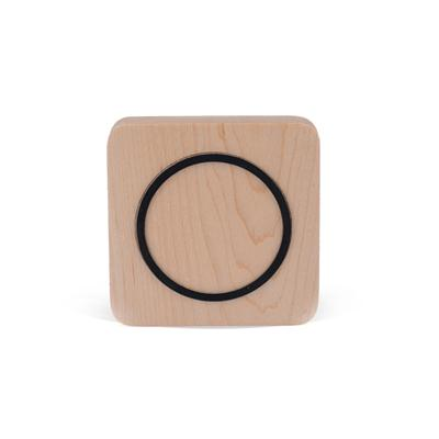 Shirui Portable Mini Qi Wood Plate Wireless Charging Mat