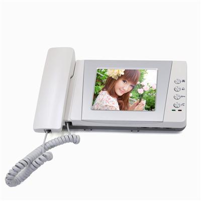 Saful TS-YP453 4 Inch TFT Wire Video Door Phone System, Handset Intercom,Display Visitor Or Monitor At Any Time
