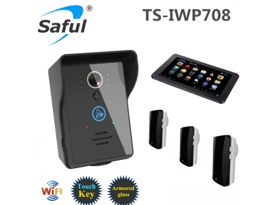 Saful TS-IWP708 wifi video door phone + tablet + doorbell- answer your door with a smartphone