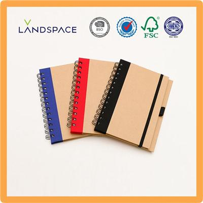 Spiral Bound Hard Cover Notebooks With Elastic Band