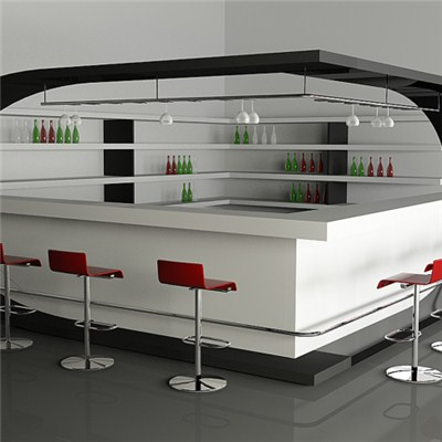 L Shape Artificial Stone Bar Counter