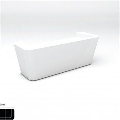 Small White Corian Solid Surface Reception Desk