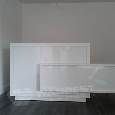 White Solid Surface Special Design Reception Counter