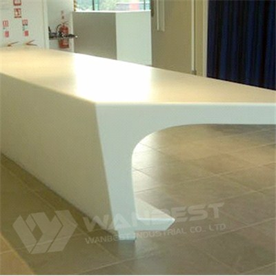 Simple Company Office Reception Counter Design