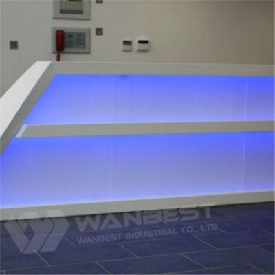 Blue Led Lighting Reception Desk
