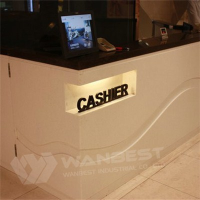 Solid Surface Cashier Counter