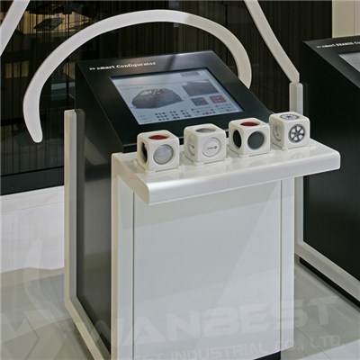 Solid Surface Museum White Mobile Exhibition Counter