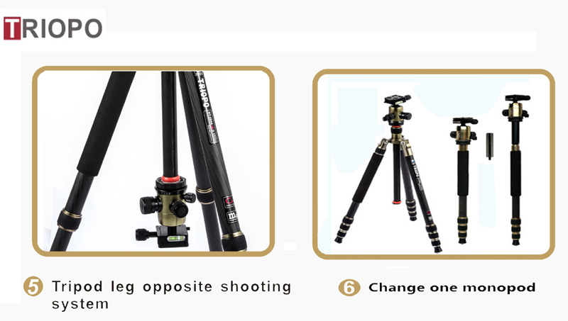 GT-2504x8.C+B-1 DSLR digital camera tripod wholesale professional travel tripod