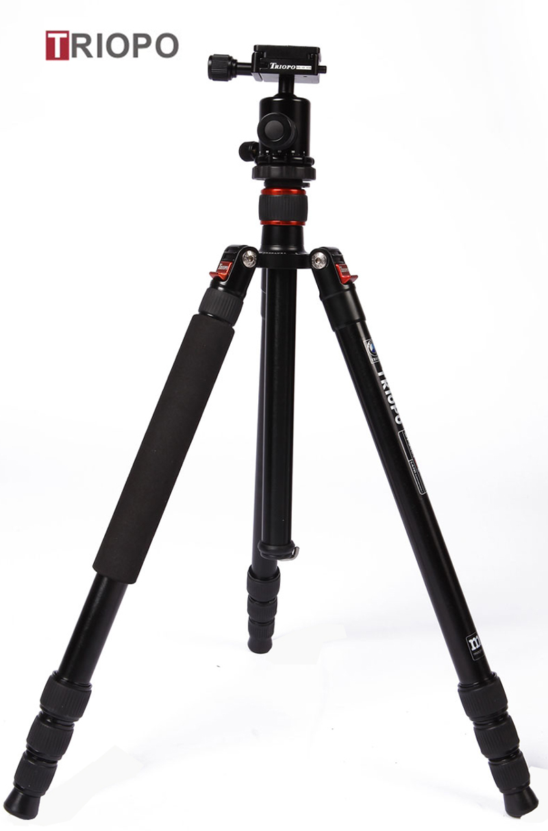 TRIOPO MT-2504X8.C+NB-1S tripod kit ,aluminium alloy tripod and SLR camera  tripod with monopod for Nikon,Canon,Sony,Pentax