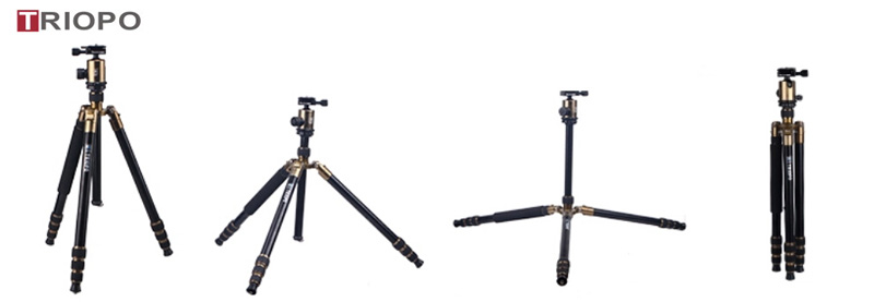 TRIOPO MT-2804x8.C+NB-2S steady camera tripod ,professional tripod kit for DSLR camera travel tripod