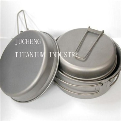 Outdoor cookware titanium camping pot