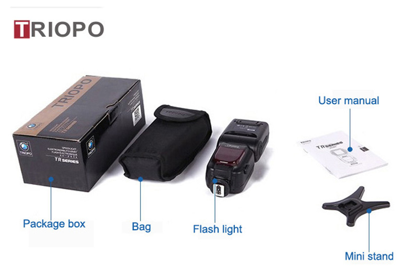 TRIOPO TR-960 camera flash light ,speedlight ,manual flash gun with manual zoom for NIkon and Canon