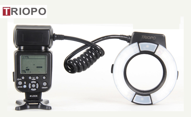 TRIOPO Marco LED Ring flash light ,speedlite TR-15EX For canon or Nikon  dslr camera with TTL