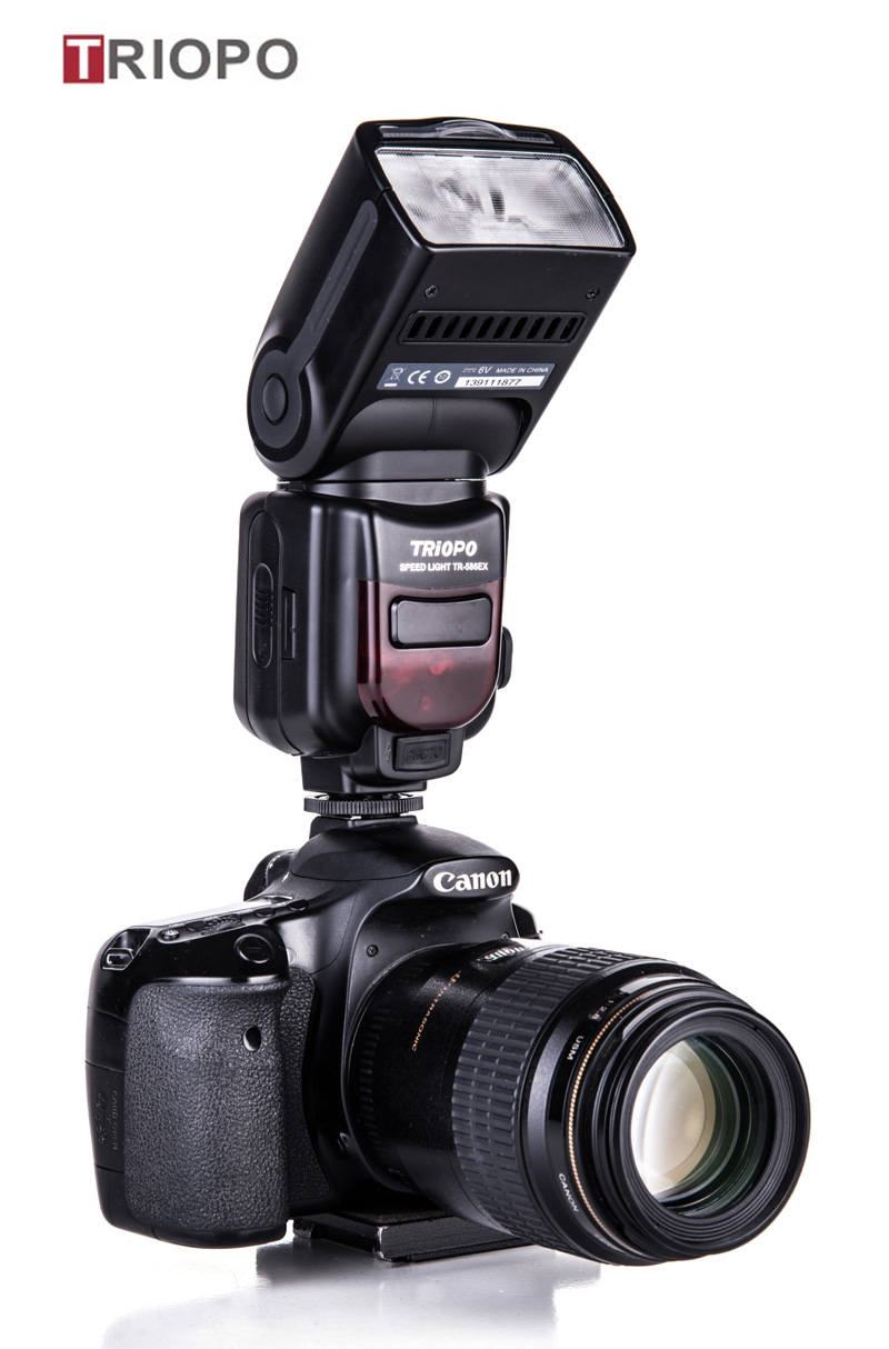TRIOPO TR-586 dslr camera speedlight studio flash light,manufacture TTL flashgun  with slave flash for Nikon and Canon