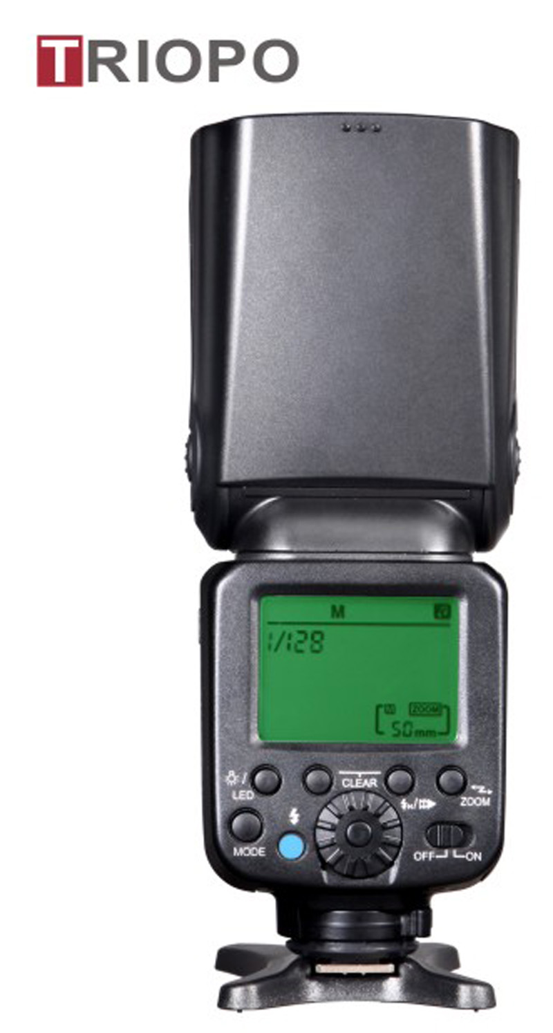 TRIOPO TR-870 camera flash light ,speedlite with lithium battery and AA battery case,wireless function  ,flash gun