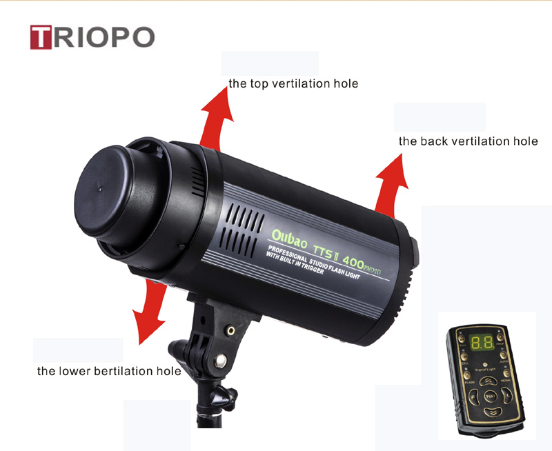 OUBAO TTS series Professional Studio Flash Light, Strobe, Studio Equipment, Photographic Equipment with remote control