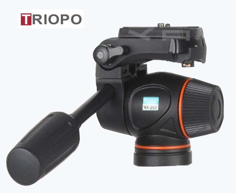 TRIOPO HY-250 Tripod Head Hydraulic Damping Video Head Tripod 1/4 3/8 Head For DSLR Cannon Nikon Camcorders Shooting Filming