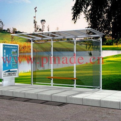Aluminum Bus Shelter With Seats