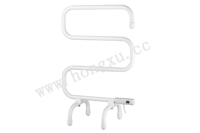 White Powder Coated Electric Towel Warmer