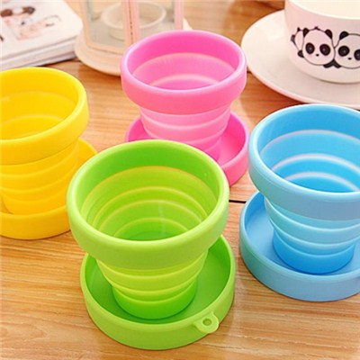 Round Silicone Folding Cup