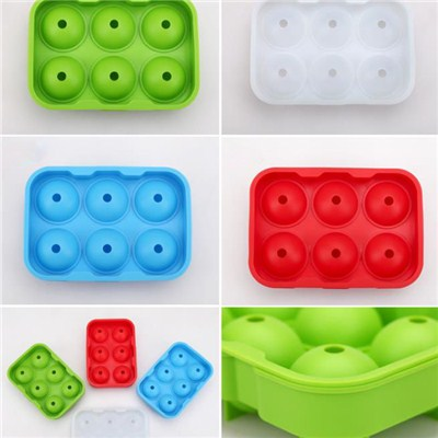 Ball Type With Lid Silicone Ice Tray