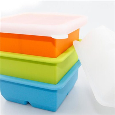 4 Cavities Silicone Ice Tray