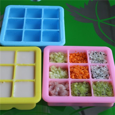 9 Cavities Silicone Ice Tray