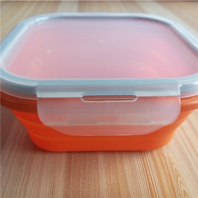 Square Shaped Silicone Folding Crisper