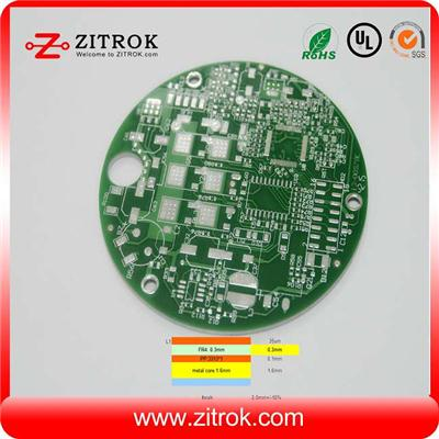 Single-sided FR4 And Aluminum Pressed Countersink Hole PCB Board