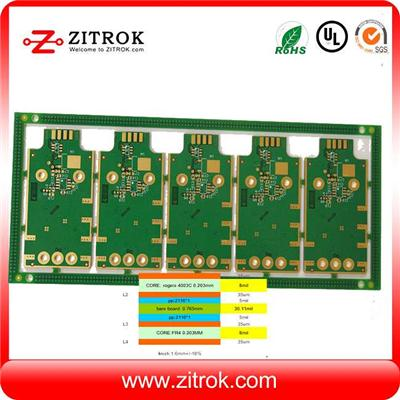 Rogers+FR4 Hybrid Immersion Gold 4Layer Board
