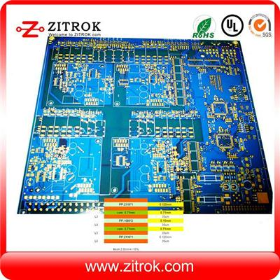 6L Immersion Gold 2.0mm Thickness Blue Soldermask PCB Circuit Board