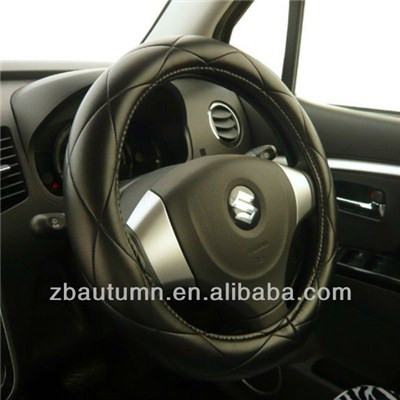 PU Diamond Grain Steering Wheel Cover
