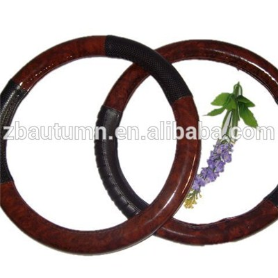 PVC Wooden Grain Steering Wheel Cover