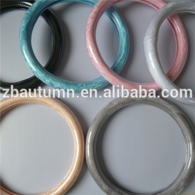 Pure Color Short Velvet Steering Wheel Cover